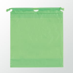 SW 二層式PE巾着ポーチ 色:グリーン